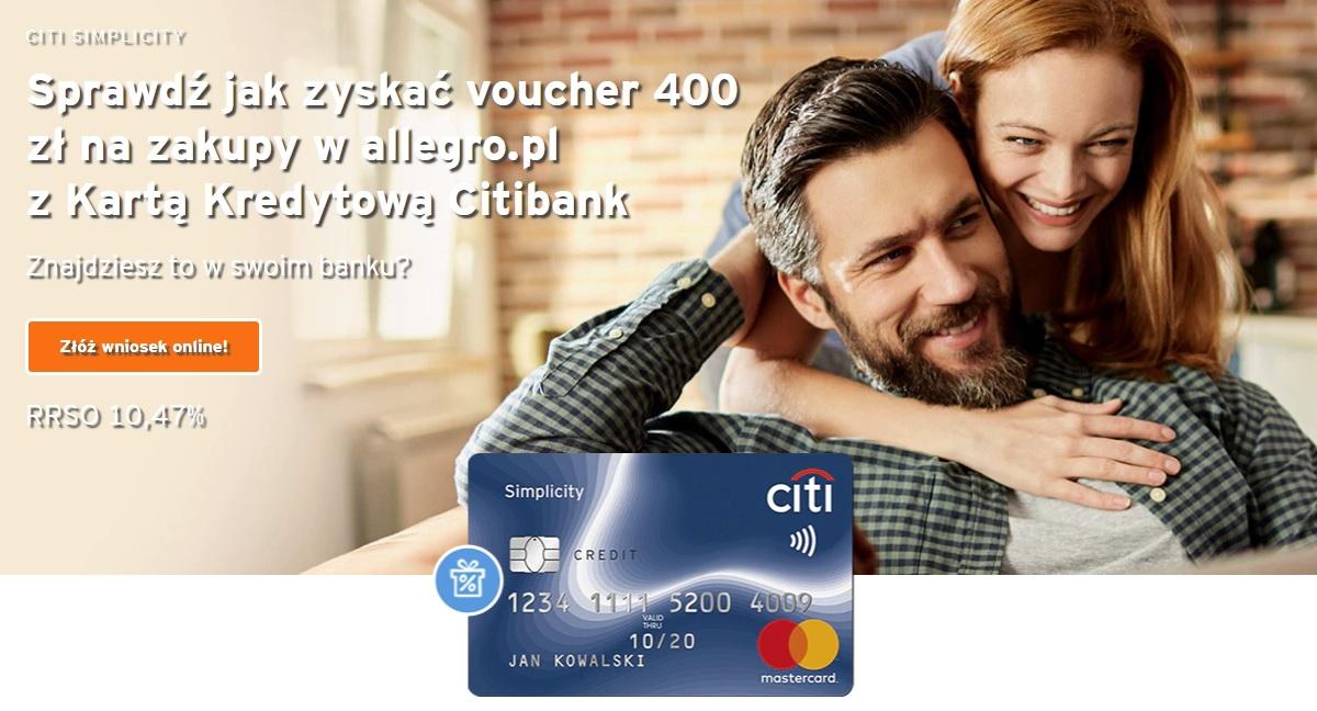 Allegro z kartą kredytową Citi